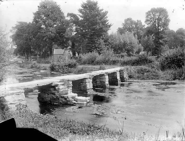 "The ancient clapper bridge over the River Leach is known locally as the ""Keble's Bridge"" named after John Keble who was curate to the church of St. Michael & St. Martin in the village."