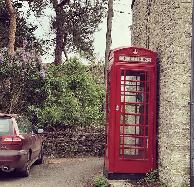Sad demise of the Eastleach Phone Box