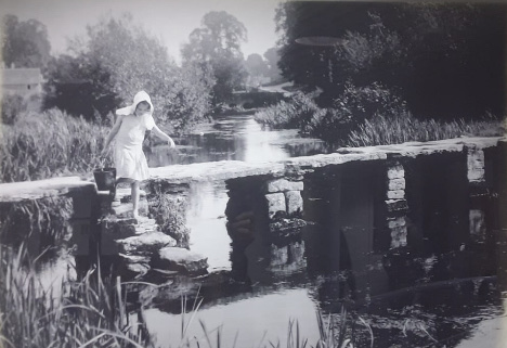 The Clapper Bridge Eastleach - Eric Guy was a commercial photographer with businesses at Basingstoke, Hampshire and then Reading, Berkshire.