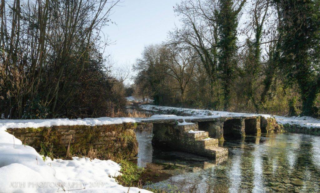 The Keble Bridge In White - Eastleach