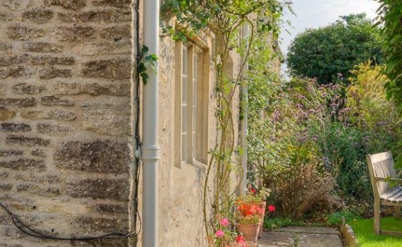Along the wall – Eastleach, Cotswolds, Gloucestershire, England – Photograph by Any Hill, ATH Photography