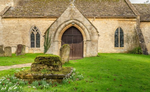 ST ANDREWS CHURCH, Eastleach, Cotswolds, Gloucestershire, England - Photograph by Any Hill, ATH Photography