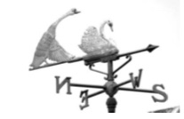 Weather Vane - The swans above are in Coln St Aldwyns, at Waterside