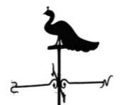 Sometimes vanes are purely decorative, and do not move with the wind, like this peacock inSouthrop.