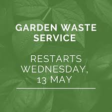 Garden waste collections will restart on 13 May
