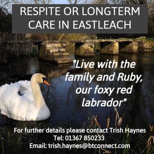 RESPITE OR LONGTERM CARE IN THE BEAUTIFUL VILLAGE OF EASTLEACH - GLOUCESTERSHIRE