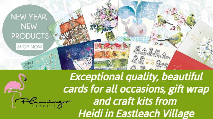 Exceptional quality, beautiful cards for all occasions, gift wrap and craft kits from Heidi in Eastleach Village