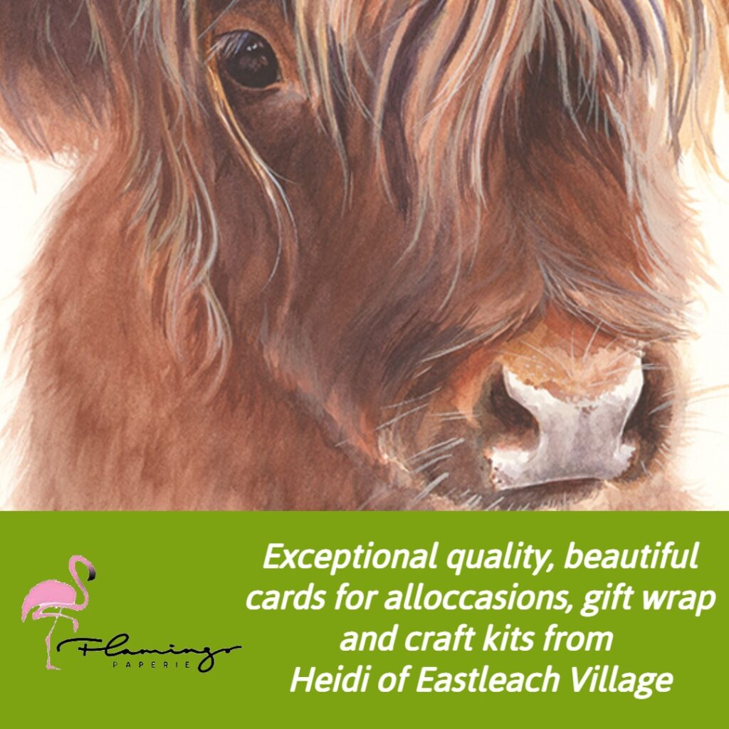 Exceptional quality, beautiful cards for alloccasions, gift wrap and craft kits from  Heidi of Eastleach Village