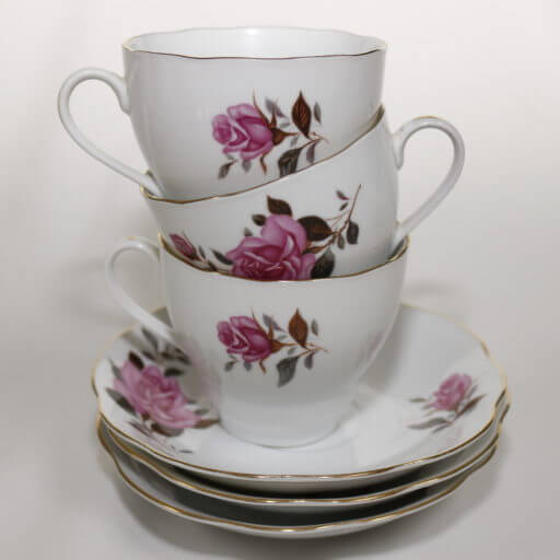 Derby Vintage China Hire's pretty vintage tea cups and saucers can make your afternoon tea party even prettier.