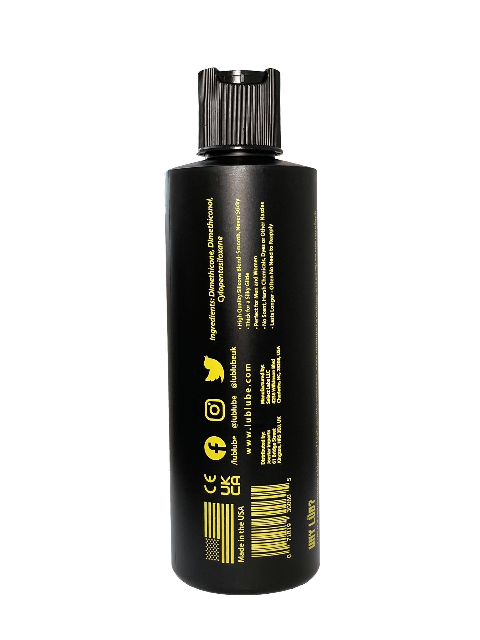 Lüb Lube, Premium Silicone Lubricant, Full Size – 8oz