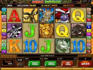 Mega Moolah Game Screen