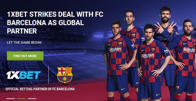 1xBet are a Global Betting Partner of FC Barcelona