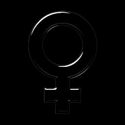 3d Transparent Glass Icon Symbols Shapes Female Symbol2 Sc48 The Astrology Place