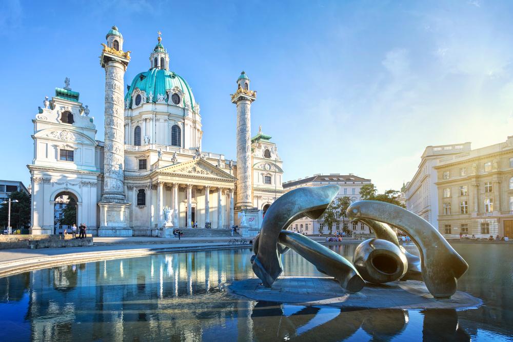 Karlskirche (St. Charles Cathedral) in Vienna, Austria