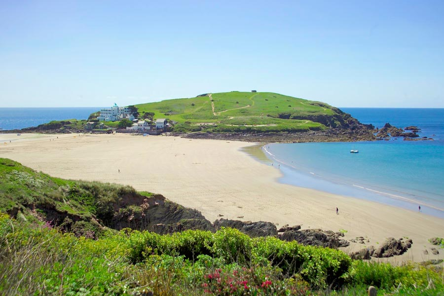 Burgh Island with the tide out