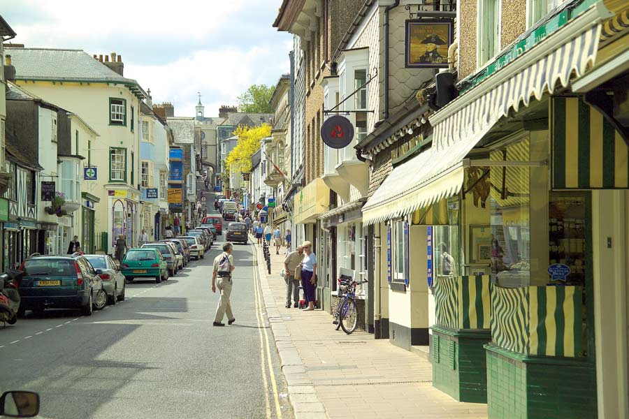 View From The Bottom Of Totnes High Street