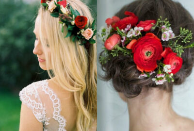 Gorgeous Bridal Headpieces In Floral Designs For Summer Weddings