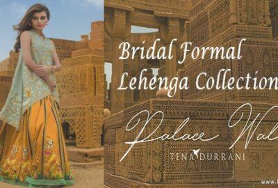 Tena Durrani Summer Bridal Lehenga Formal Collection 2017