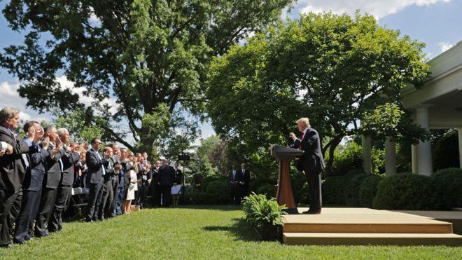 The Paris Agreement White House Lawn