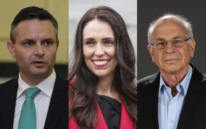 James Shaw, Jacinda Ardern, Daniel Kahneman