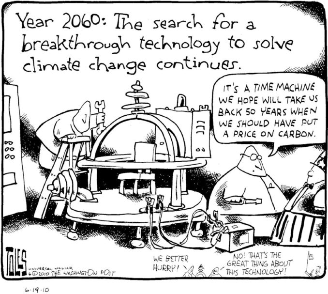 Time Machine for climate change