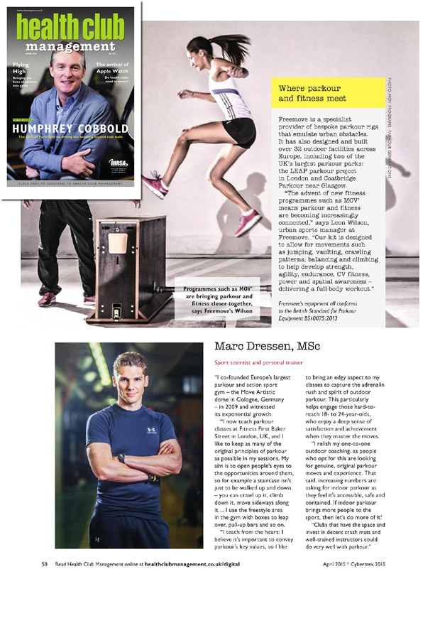 Health Club Management April 2015 From Street to Studio M
