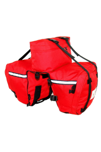 Elite Rear Panniers Red without Piggyback