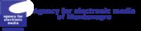 Logo for Agency for electronic media of Montenegro
