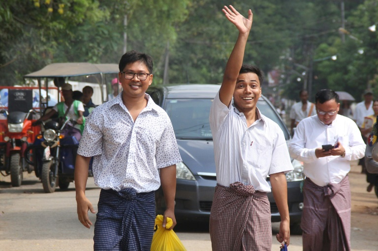 Reuters journalists freed from Myanmar prison