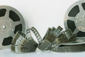 Movie reels and film