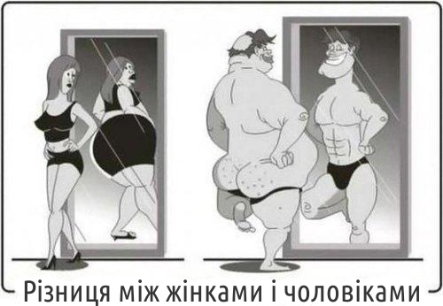 Різниця між жінками і чоловіками