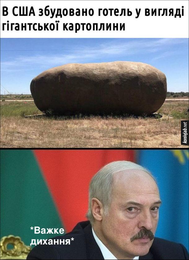 Жарт про Лукашенка. В США збудовано готель у вигляді гігантської картоплини. Олександр Лукашенко: *важке дихання*