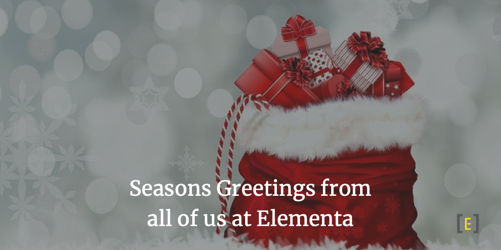 Seasons Greetings from all of us at Elementa