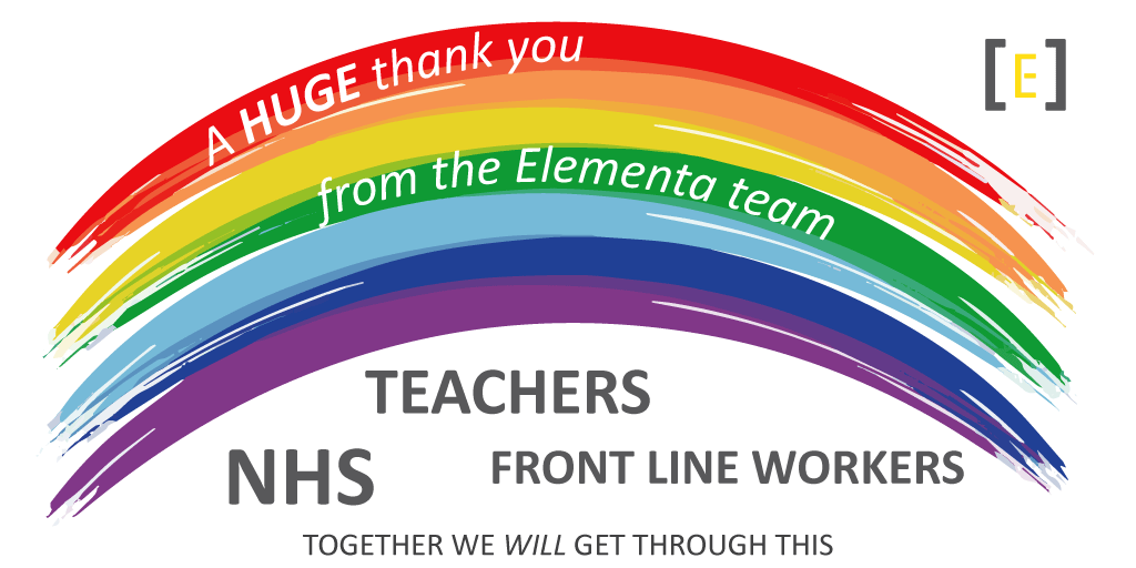 A Huge thank you from the Elementa team to teachers NHS and front line workers