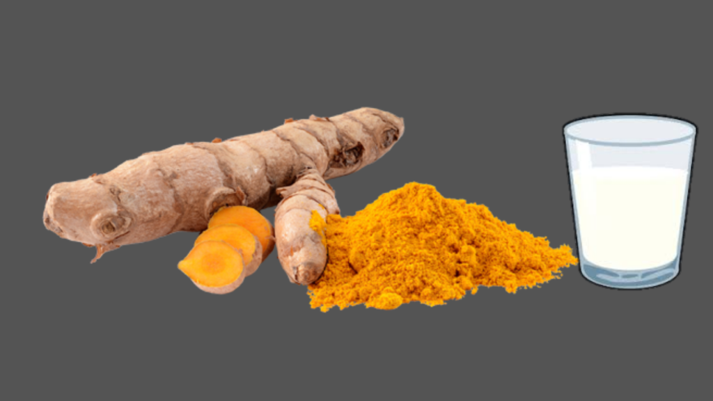 milk and turmeric face pack