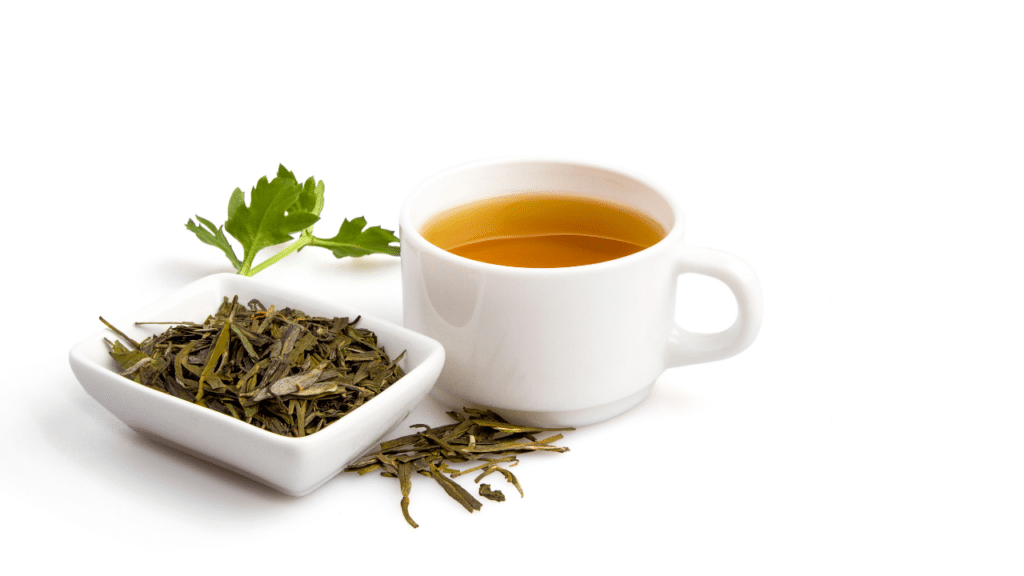 Green tea for sun burn
