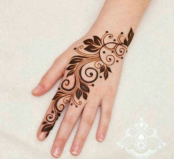 Big Dots Simple and Stylish Arabic Mehndi Design