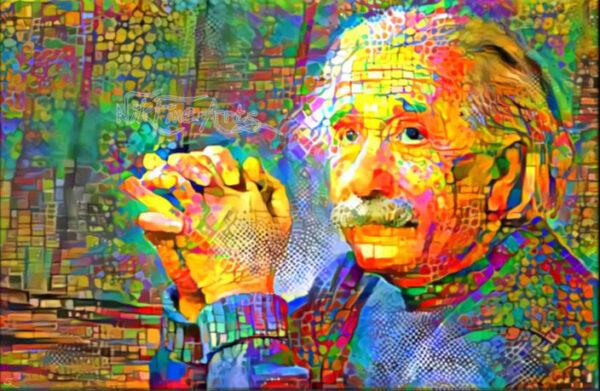 "Poster 24/"" x 36/"" Albert Einstein Abstract Painting"