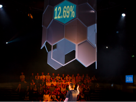 National theatre interactive play audience response system