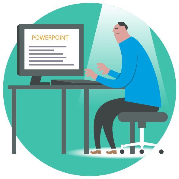 Meetoo app PowerPoint technician