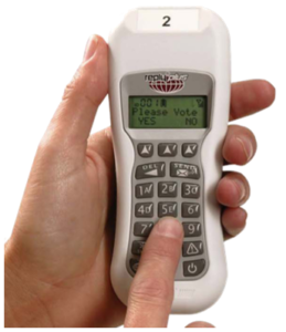 Reply Plus keypad voting system dry hire 100