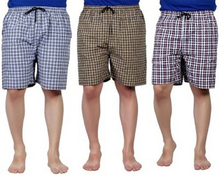Zoldy Checkered Men's Boxer (Pack of 3) at Rs.224 only