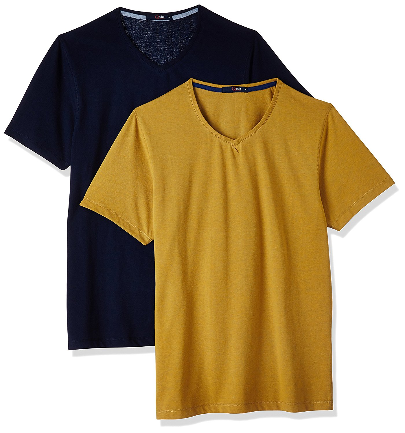 Qube by Fort Collins Men's T-Shirt (Pack of 2) at Rs.319 only