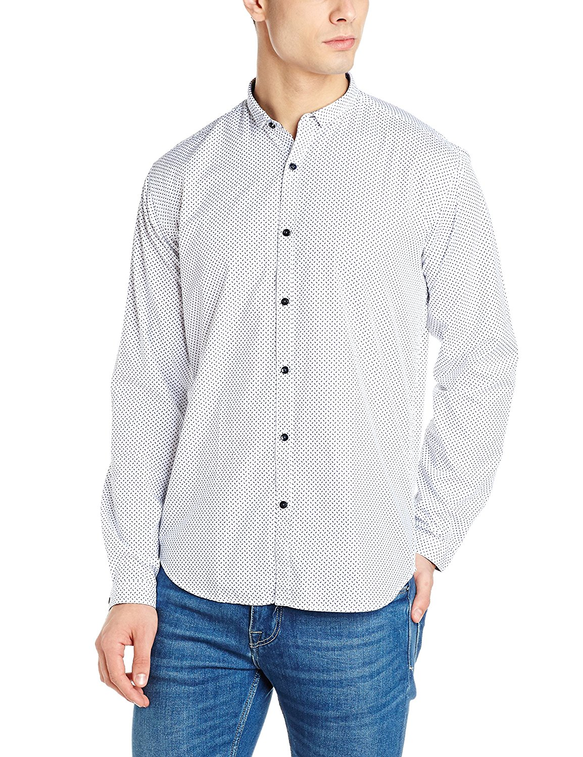 Van Heusen Men's Printed Slim Fit Cotton Casual Shirt at Rs.524 only