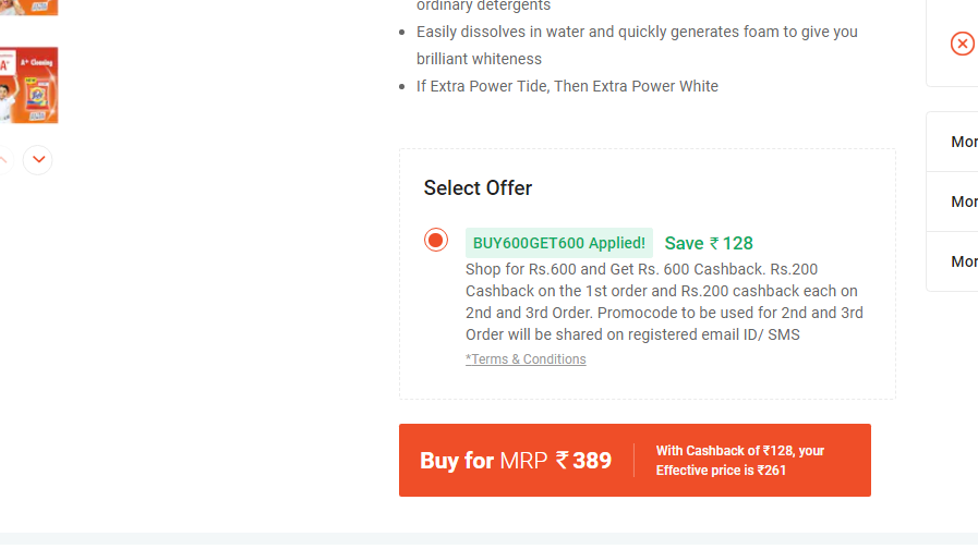 Shop for Rs.600 and Get Rs. 600 Cashback @paytm