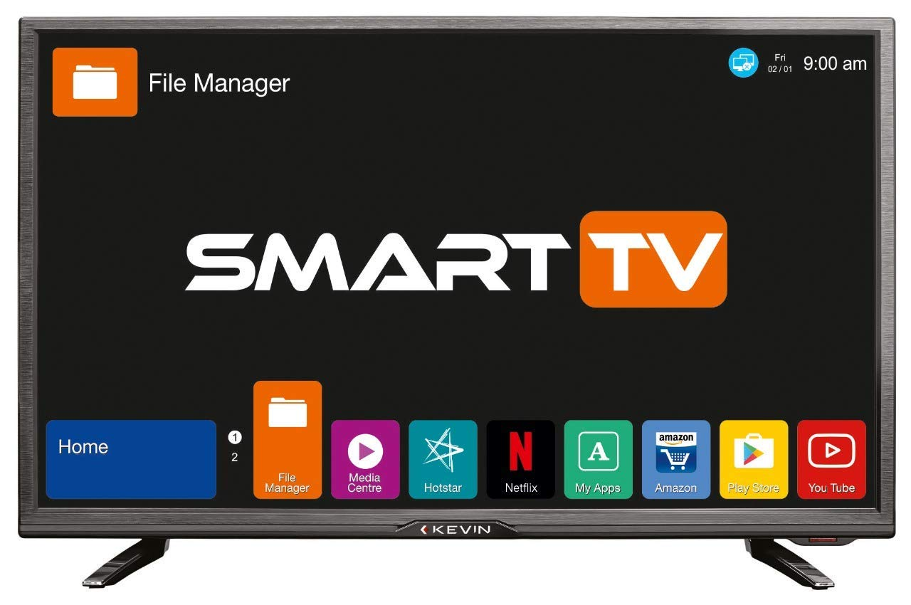 Kevin 81.3 cm (32 inches) HD Ready Smart LED TV K32CV338H (Black) (2018 model)
