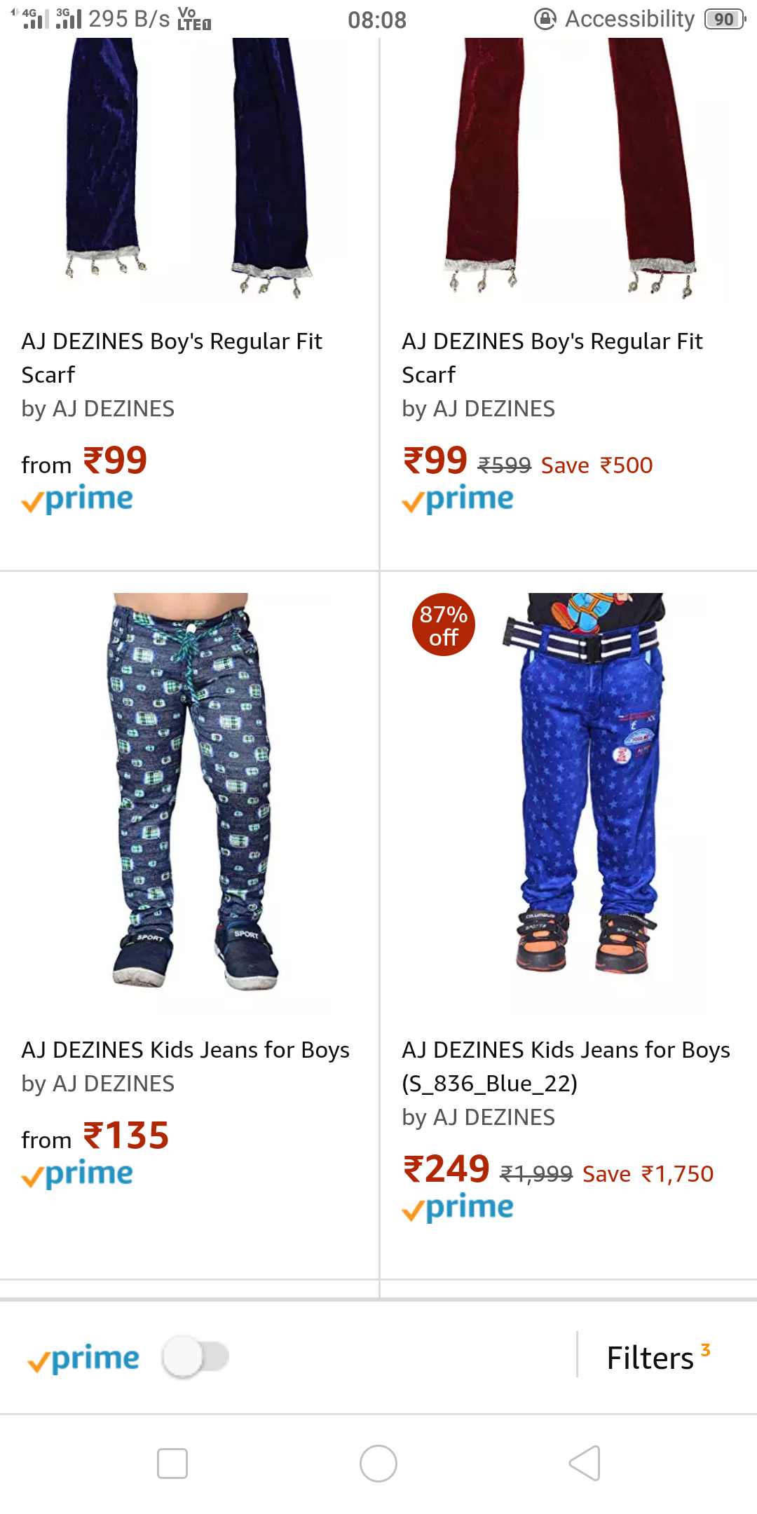 Upto 90% Off on kids clothing