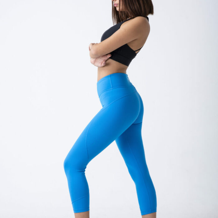 woman fitness tights and bra