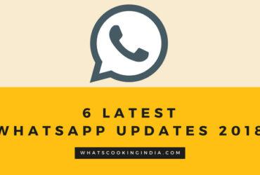6 Whatsapp new updates