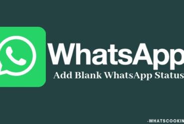Blank WhatsApp status